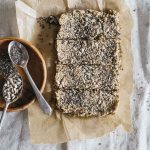 Vegan Granola Bars with Nuts and Chia Seeds