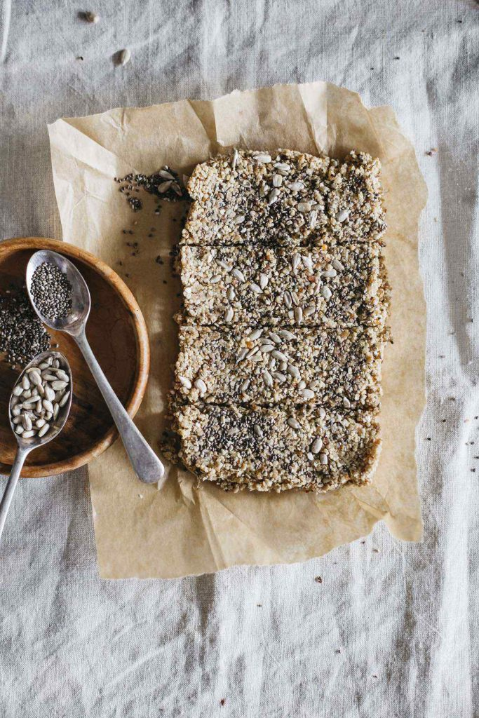 Vegan Granola Bars With Nuts And Chia