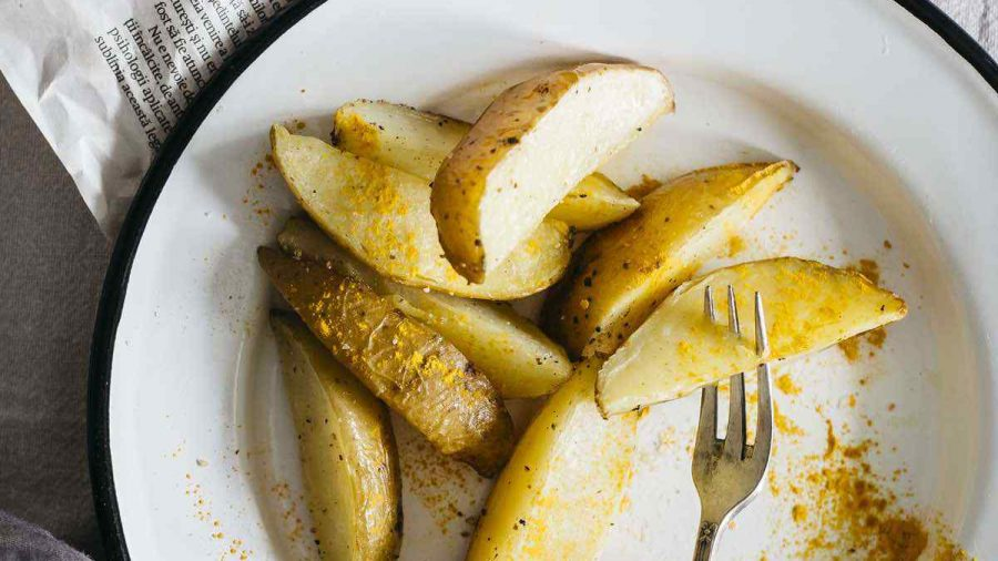 Vegan Indian Spiced Baked Potato Wedges