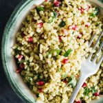 Vegan 10 Minute Barley Salad (With Pomegranate And Parsley)