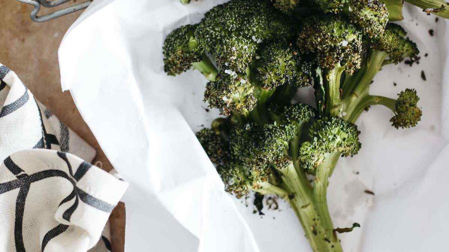Vegan Roasted Broccoli With Apple Cider Vinegar