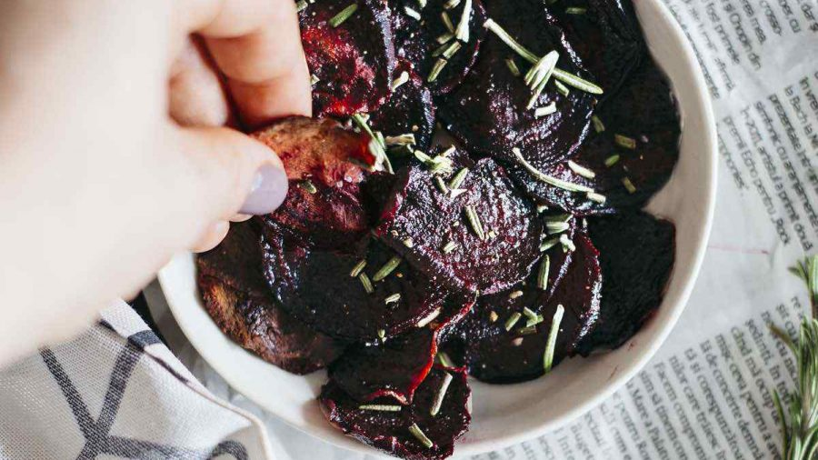 Rosemary Vinegar Beet Chips