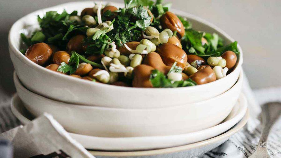 Vegan Satisfying Bean And Parsley Salad