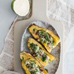 Vegan Sweet Potato Skins With Herbed Avocado Puree And Red Onion