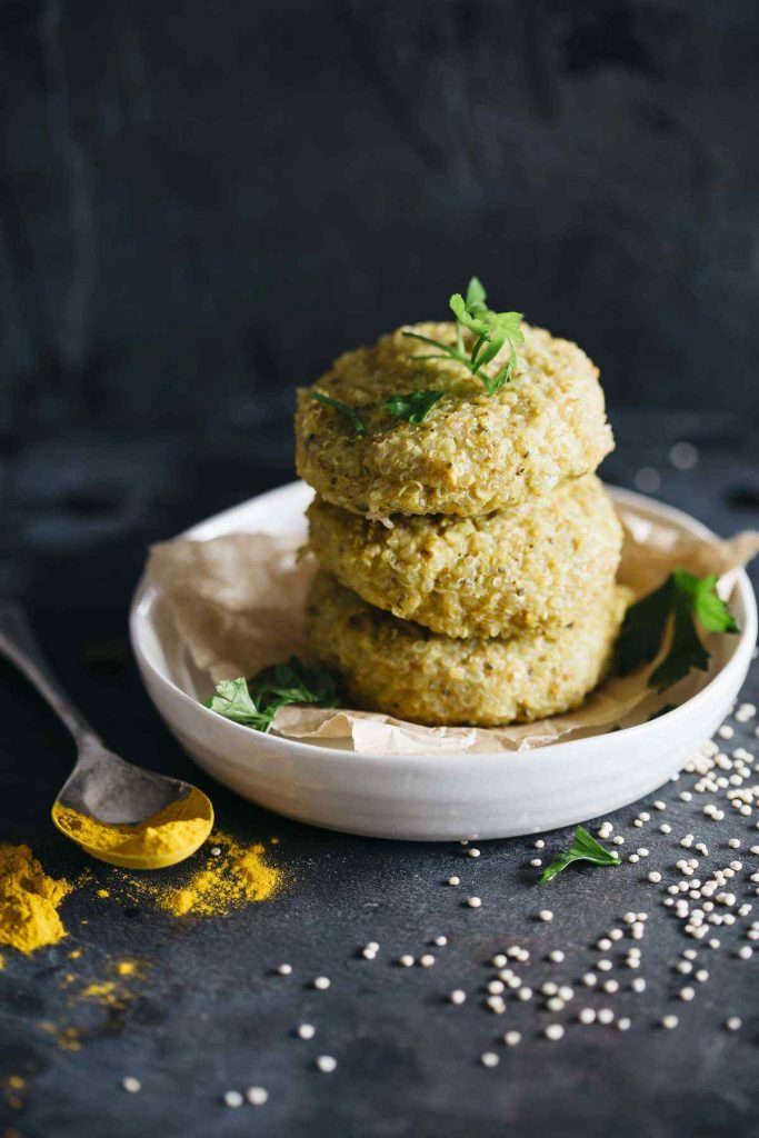 Vegan Turmeric Quinoa Patties
