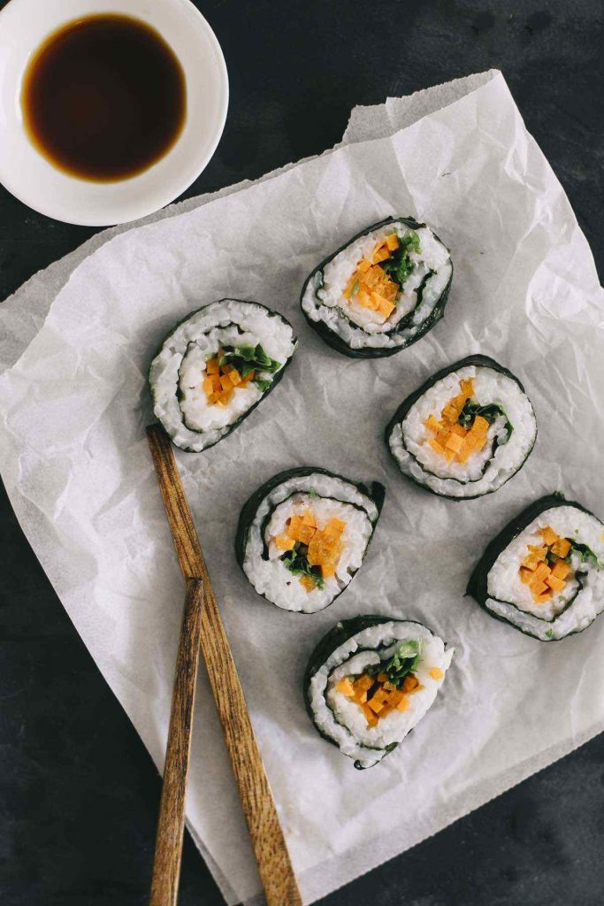 Vegan Raw Sushi Rolls